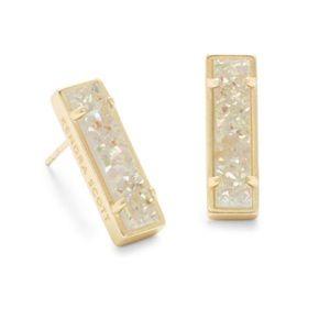 NWT ~ Kendra Scott Lady Gold Stud earring